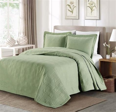 Green Coverlet King by New Cal King Oversized Bedspread Coverlet Quilt 3 Pc