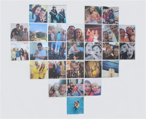 heart shaped photo collage allfreekidscraftscom