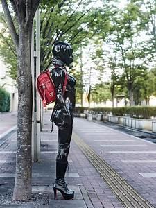 Verpackt In Latex : black rubber latex clothing with red randoseru in public flickr ~ Watch28wear.com Haus und Dekorationen