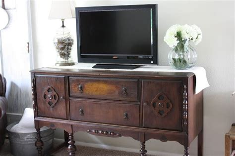 Sideboard For Tv by I Saw A Tv Mounted An Antique Sideboard In A