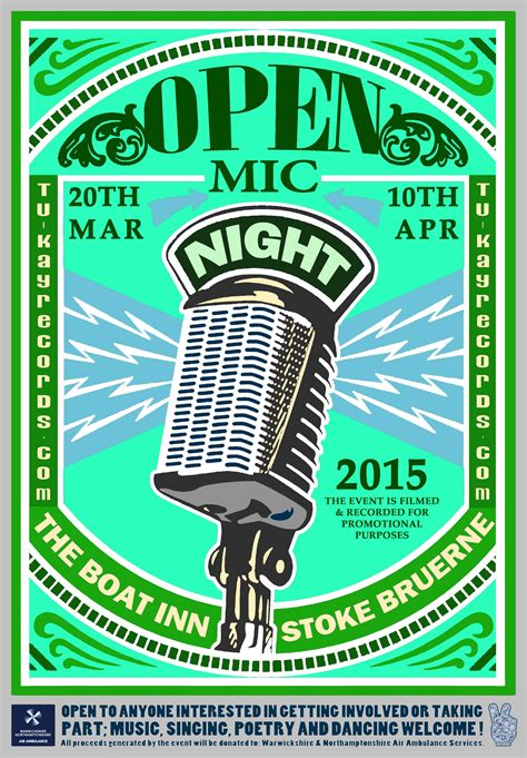 The Boat Open Mic Night by Special Events At The Boat Inn Stoke Bruerne