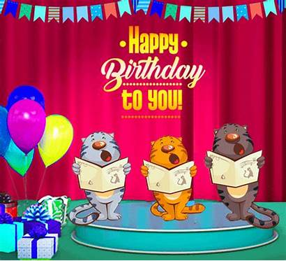Birthday Happy Songs Song Cats Cards Wishes