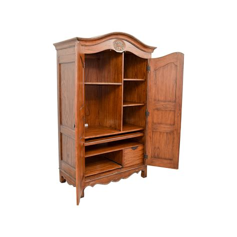 Buy Armoire - 64 wood armoire with interior shelves storage