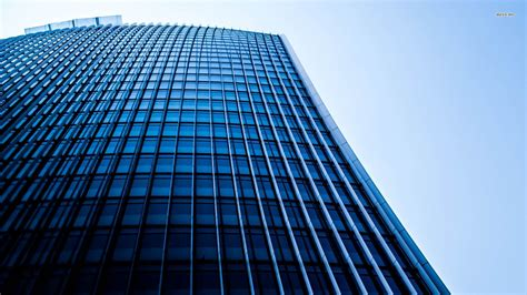 blue skyscraper wallpaper