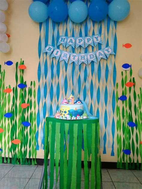 sea babyshark birthday babysharkdecoration