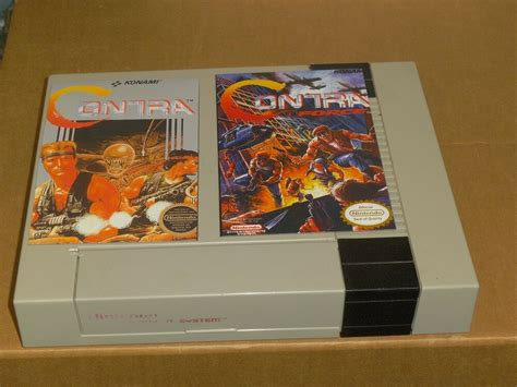 Nes Nintendo Contra And Contra Force Box Covers 4 X 6
