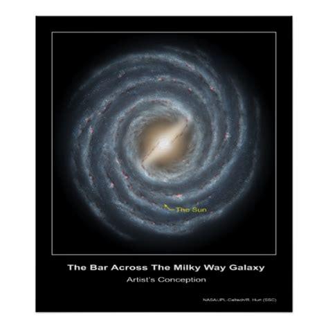 The Bar Across Milky Way Galaxy Artist Con Poster
