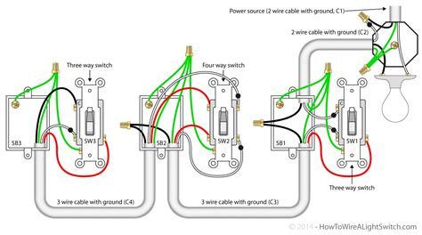 Three Way Switch 2 Wire Diagram by 3 Way Switch Wiring Diagram Lights Diagram
