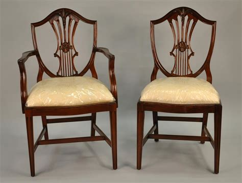 small vintage size shield  dining room chairssolid mahogany