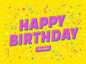 Birthday Greeting Card Background Design Happy Birthday Pop Art Typography Download Free Vectors