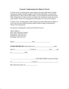 Travel Consent Form Template