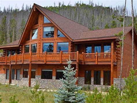 Mountain Log Cabins by Luxury Log Cabin At Base Of Rocky Mountain National Park