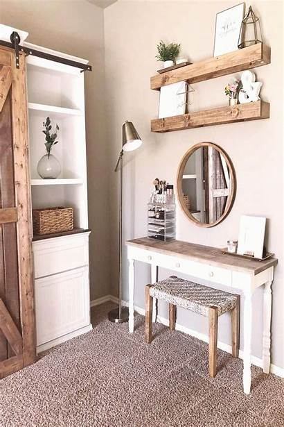 Vanity Makeup Farmhouse Rustic Bedroom Nailvisions Double