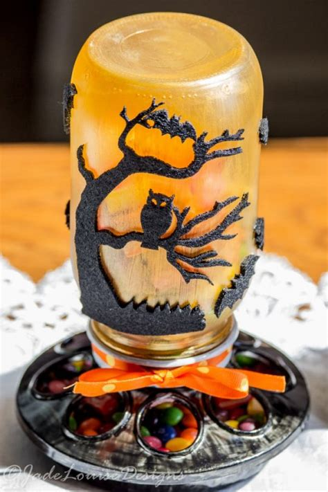 diy mason jar crafts  halloween decor shelterness