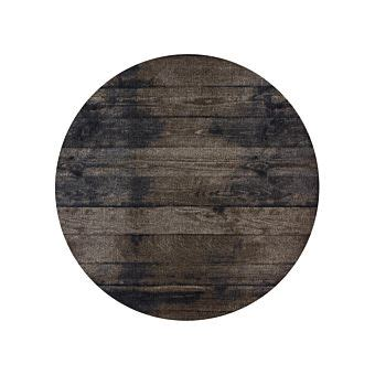 teppich rund 100 teppich rund wood braun 216 100 cm g 252 nstig lehner versand