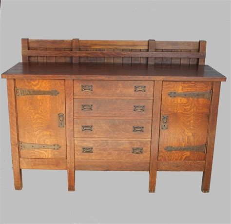 Vintage Buffets Sideboards by Antique Gustav Stickley Eight Legged Mission Oak