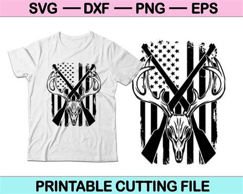 Also you can search for other artwork with our tools. American Flag Deer Hunting SVG File For T-Shirt Design ...