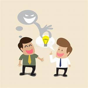 Businessman Is Stealing Idea From Another Man Stock Vector ...