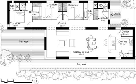 Plans De Maison Moderne Plan Maison Moderne 120 M 178 Ooreka
