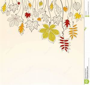 Autumn Falling Leaves Background Stock Vector ...