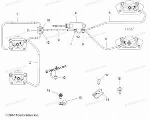 Polaris Side By Side 2008 Oem Parts Diagram For Brake