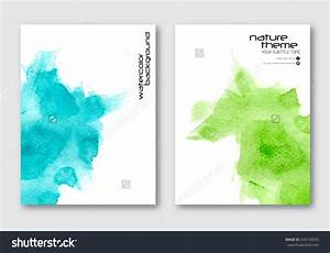 Vector Nature Poster Templates Hand Drawn Stock Vector ...