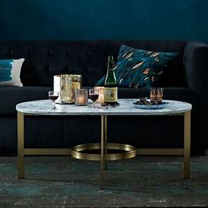 Stone coffee tables with modern style for West elm marble top coffee table