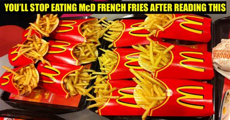 knew whats  mcdonalds fries youd