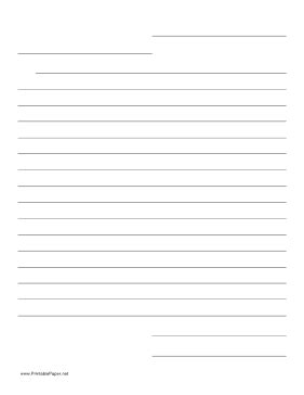 letter paper  lines  printable