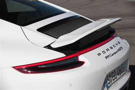 porsche 911 carrera gts spoiler 2017 porsche 911 gts faster than 991 1 gt3 at nurburgring