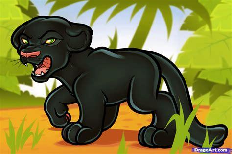 draw  cartoon panther step  step cartoon