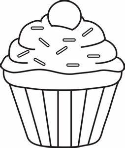 Cupcake Clipart Black And White | Clipart Panda - Free ...