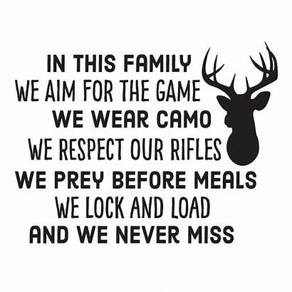 Hunting Quotes Deer Funny Wall Quote Decal