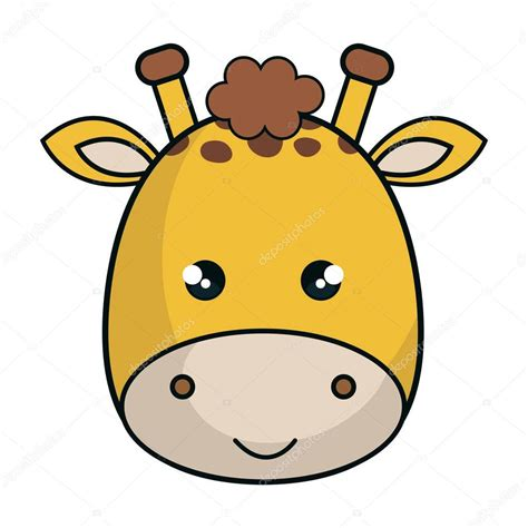estilo de animales kawaii cute giraffe archivo imagenes