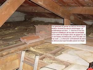 Escalier Escamotable Grenier : escalier escamotable sur trappe de grenier existante ~ Melissatoandfro.com Idées de Décoration