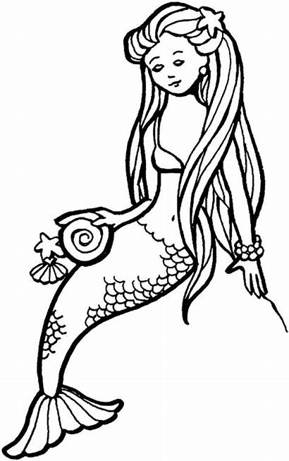 Mermaid Tails Draw Cliparts Pages Colouring