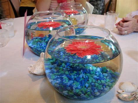 Blue Betta Fish Bowl Centerpieces
