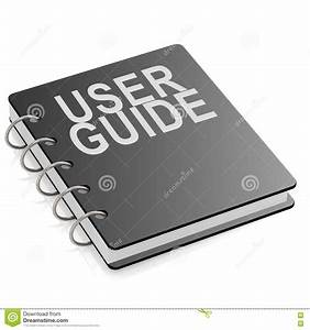 User Guide Book Isolated Stock Illustration  Illustration