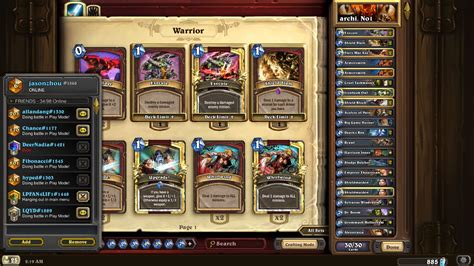Warrior Deck Hearthpwn by Celestial Jasonzhou Eu 1 Warrior Guide Heaven Is