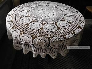 Runde Tischdecken Landhausstil : h kel tischdecke handarbeit landhausstil rund ~ Watch28wear.com Haus und Dekorationen