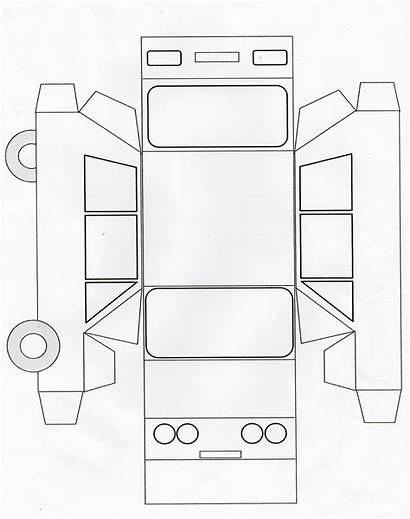 Template Paper Crafts Truck Preschool Bus Diy