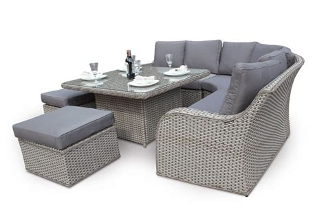 sofa dining set garden nottingham corner sofa dining outdoor rattan set natural