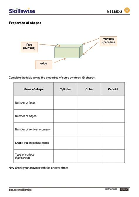 2d and 3d shape worksheets ks2 3d shapes ks2 lesson plan