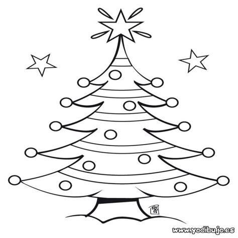 dibujos para colorear arbol de navidad con estrellas es