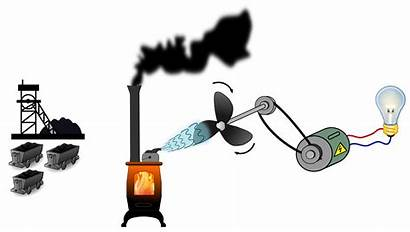 Coal Plant Power Clipart Thermal Energy Transparent