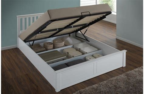 king size ottoman storage bed white or oak ottoman gas lift storage bed 4ft6 double 5ft