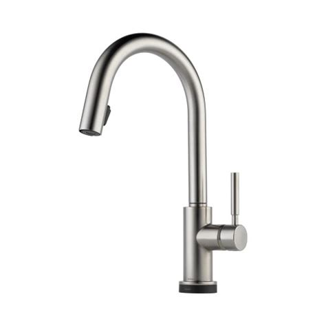 brizo 64020lf ss solna kitchen faucet single handle with