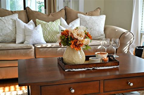 how to decorate a table for fall tray decor for fall coffee table livinator