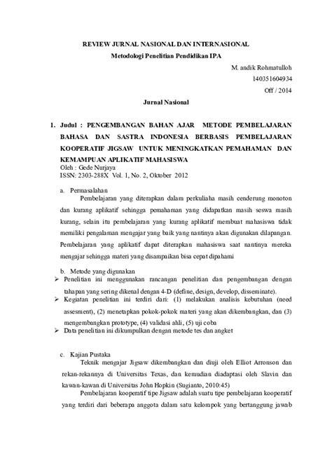 (DOC) Review jurnal | M R - Academia.edu
