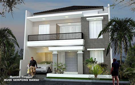 gambar desain rumah minimalis  setengah lantai terbaru